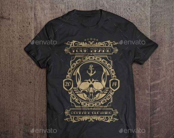 3 T-Shirt Illustration - Skull Theme