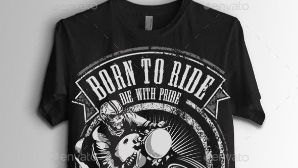Ghost Cafe Rider Biker T-Shirt