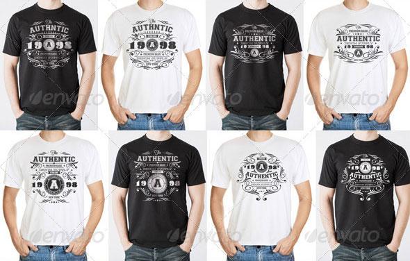 Authentic Vintage T-Shirt Templates
