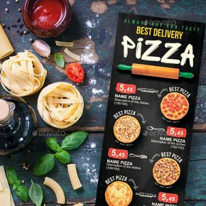 25 Pizza and Burger Menu Design Templates To Feast Your Eyes On