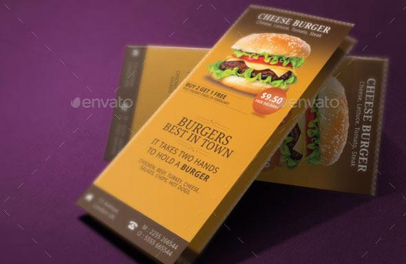 Burgers Menu Tri Fold Brochure