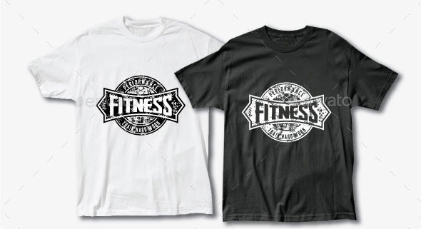 Grunge T-shirt design for Fitness