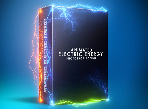 Animated Electric Energy Photoshop Action