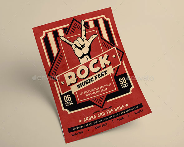 Rock Music Flyer
