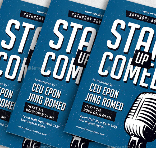 Stand Up Comedy Flyer