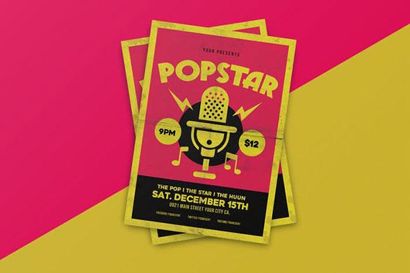 Popstar music flyer