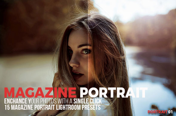 15 Magazine Portrait Lightroom Presets