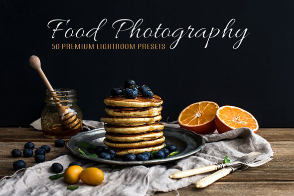 50 Premium Food Photography Lightroom Presets