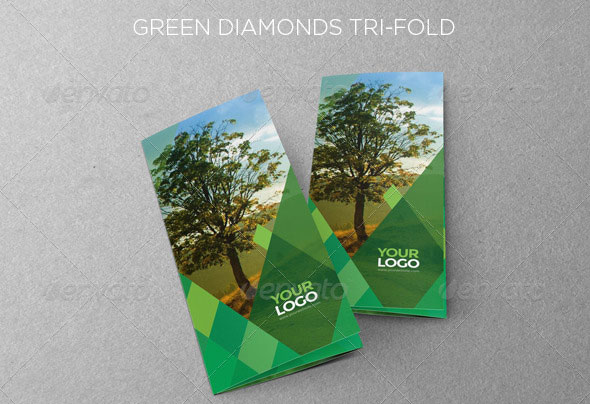Green Diamonds Trifold