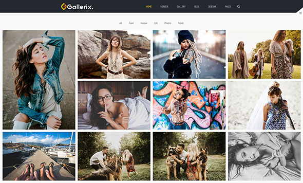 Gallerix - Creative Gallery, Portfolio and Blog Theme