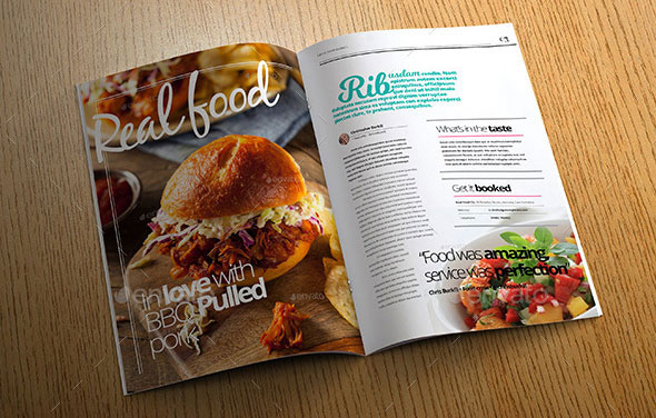 Food Magazine Templates