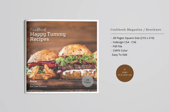 SquareCookbook Magazine / Brochure