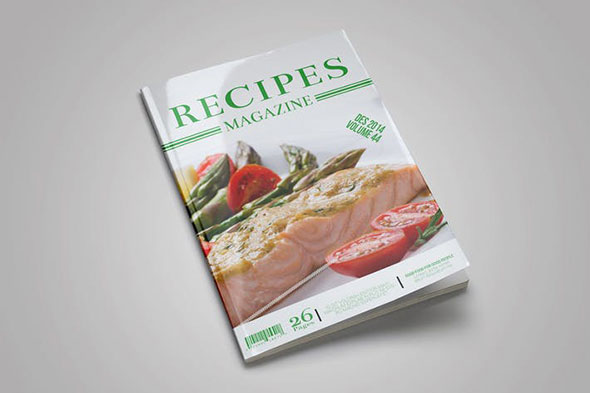 Food Recipes Magazine Template