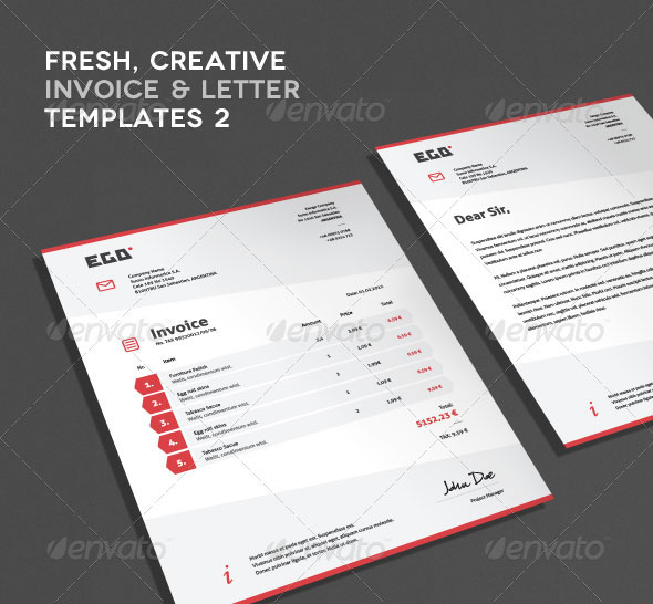 Invoice, CV & Letter Templates II