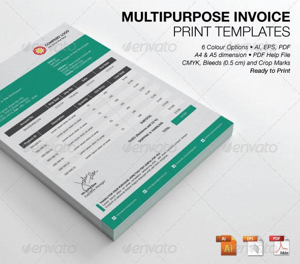 Multipurpose Invoice Print Templates