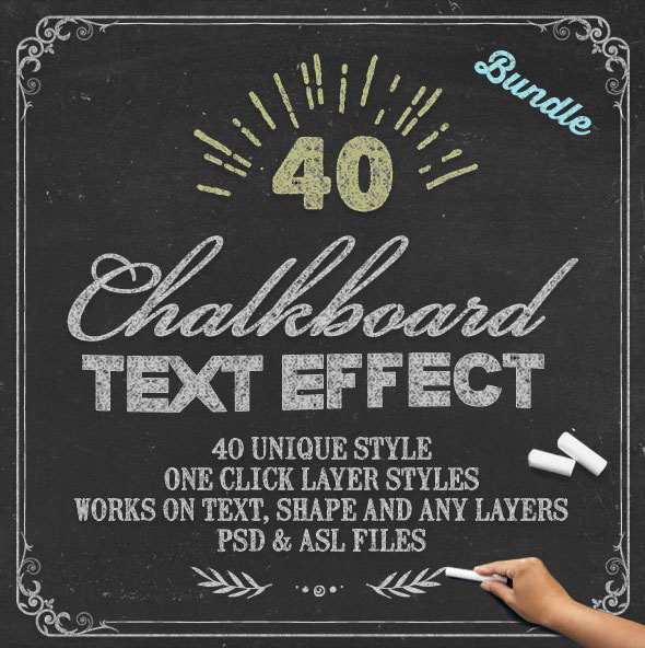 Chalkboard Text Effects Bundle