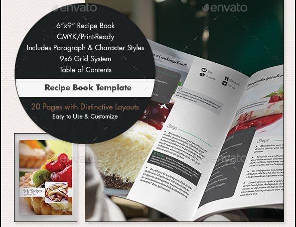 Recipe Book Template - 6x9in
