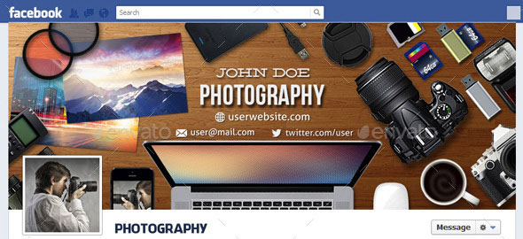 Photography Facebook Timeline Cover V6